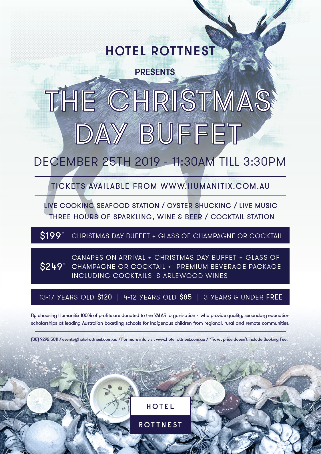 Christmas Day 2019.Hotel Rottnest Presents The Christmas Day Buffet 2019